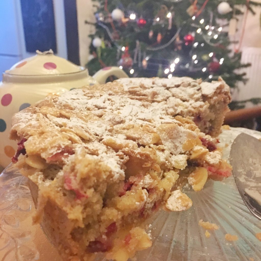 Recipe: Almond & Cranberry Streusel Cake