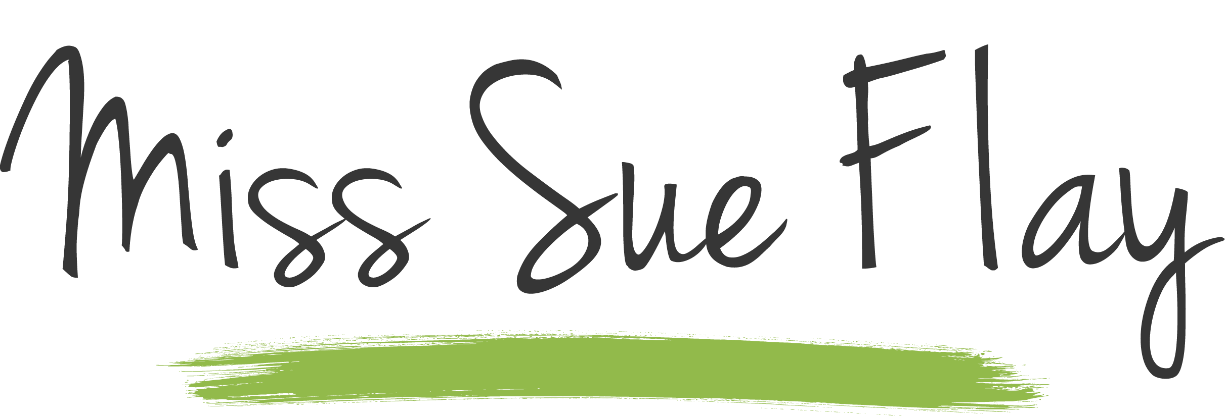 MSF Miss Sue Flay logo Green Brush